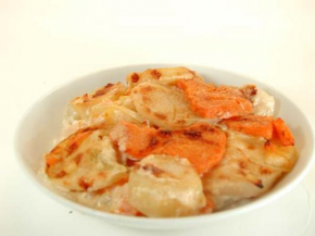 Recipe Potato Gratin with Sweet Potato and Turnips SimpleFoodie.com -