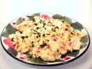 Cream Cheese and Ham Scrambled Eggs