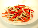 Jicama and Red Bell Pepper Salad