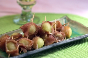 Prosciutto Wrapped Melon Balls Recipe. A playful take on the favorite ...