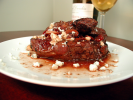 Steaks with Cranberry Port Gorgonzola Sauce