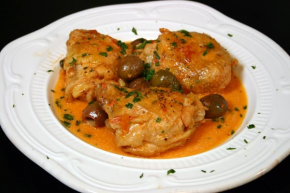 Chicken with Capers and Olives