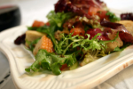 Baby Lettuce Salad with Bacon & Croutons