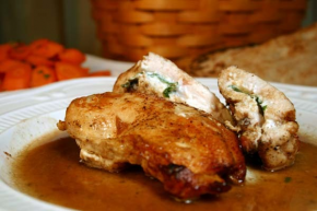 Recipe Chicken Breast Stuffed With Goat Cheese And Basil