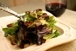 Baby Lettuces and Greens with Garlic Dijon Vinaigrette