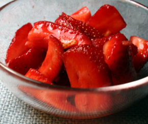 Strawberries with Lemon Sugar