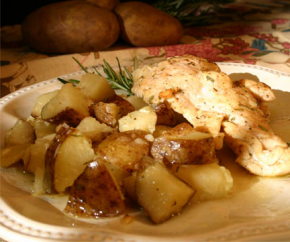 Roasted Rosemary Chicken and Potatoes