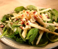 Spinach Salad with Apple and Feta