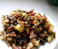 Wild Rice Stuffing with Apples and Chestnuts