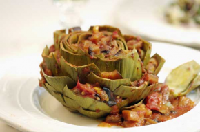 Artichokes Stuffed with Caponata