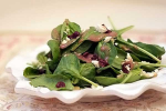 Spinach Salad w/ Raspberry Vinaigrette